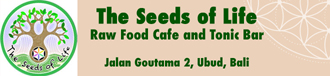 Raw Vegan Restaurant in Ubud – The Seeds of Life Cafe Bali Logo